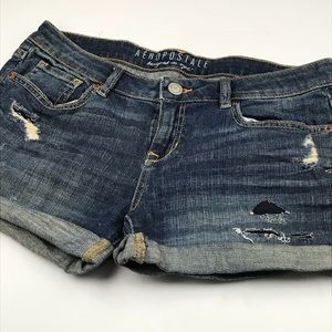 Aeropostale l Distressed Denim Shorts
